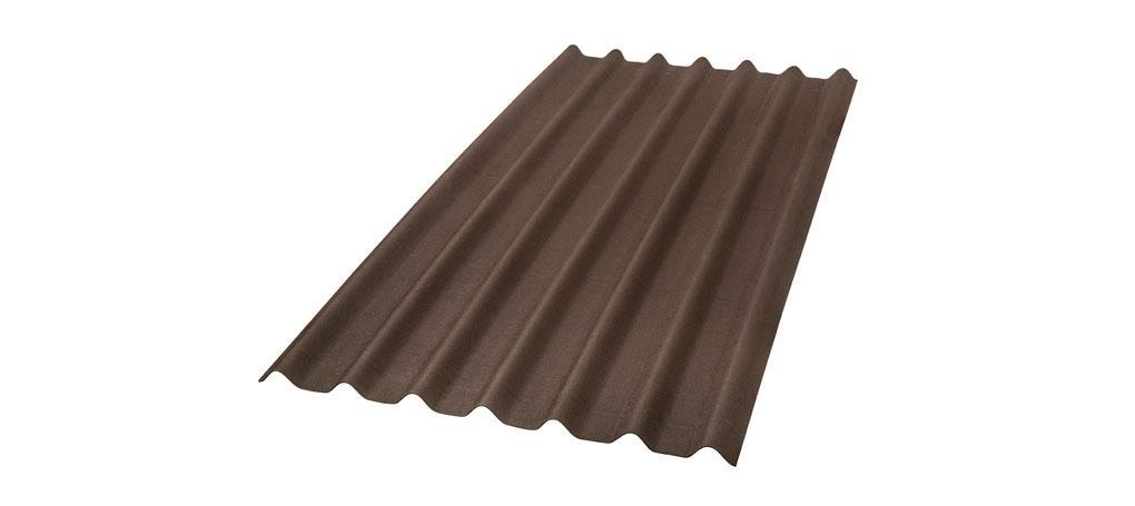 foto da telha ecológica onduline Stilo cor marrom
