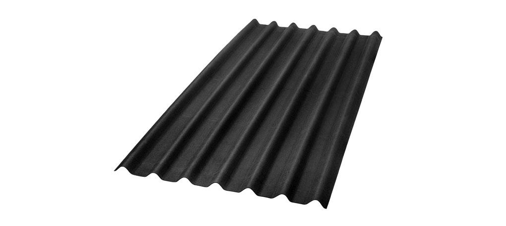 foto da telha ecológica onduline Stilo cor preta