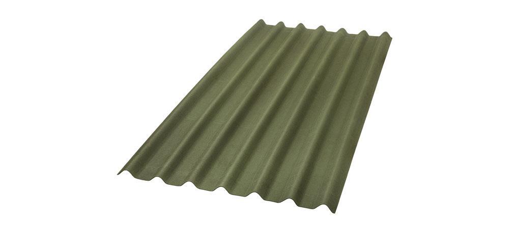foto da telha ecológica onduline Stilo cor verde