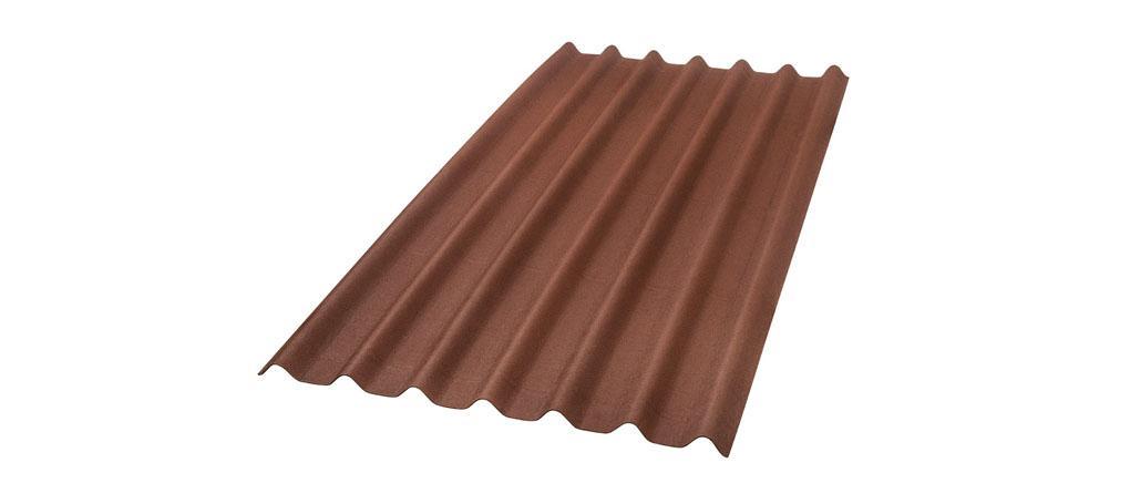 foto da telha ecológica onduline Stilo cor vermelha