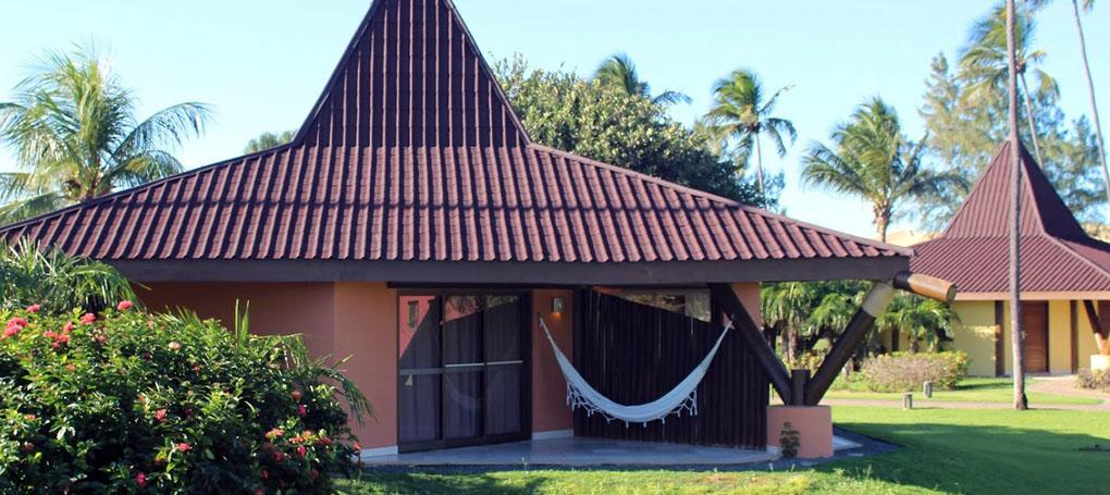 Bangalo com telha ecológica Onduvilla cor marrom
