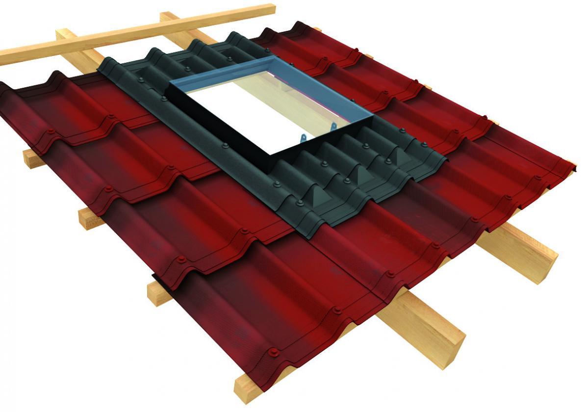 Adaptador para encaixe da claraboia na telha ecológica Onduvilla