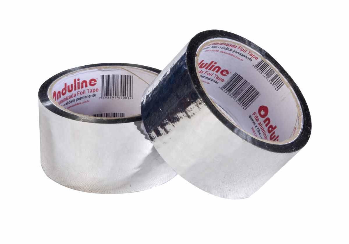 Fita Adesiva Aluminizada Onduline Foil Tape   foto do produto na cor alumínio