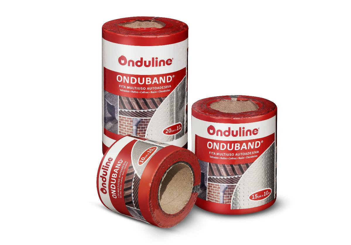 Fita asfáltica adesiva Onduband cor alumínio