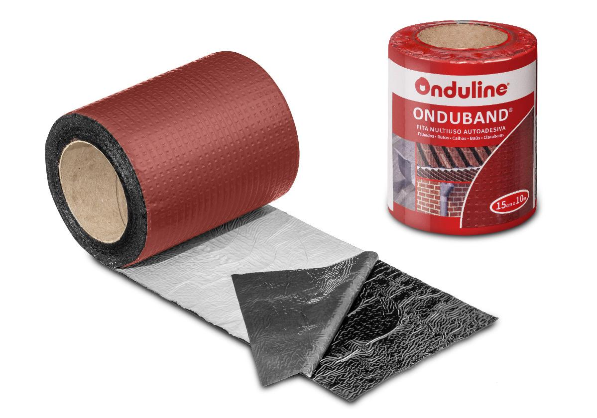 Fita asfáltica adesiva Onduband cor vermelha