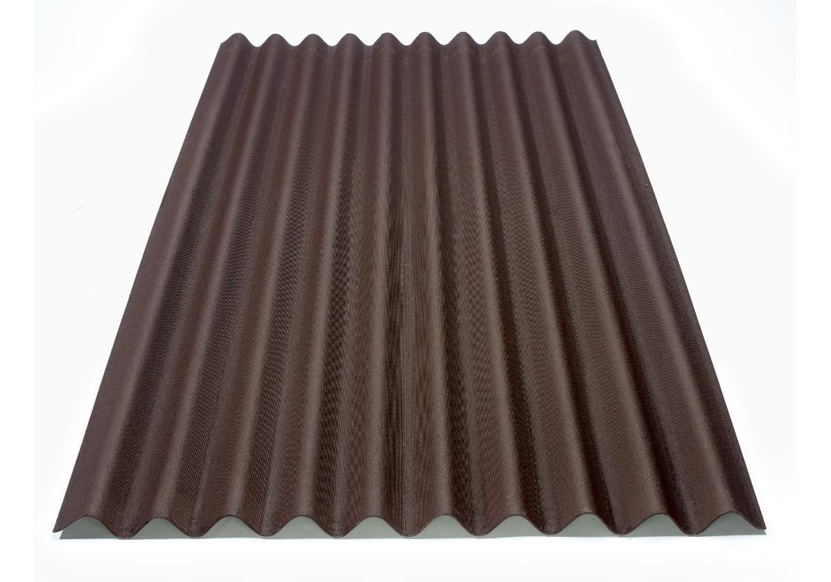 Onduline Clássica® | foto da telha ecológica na cor marrom