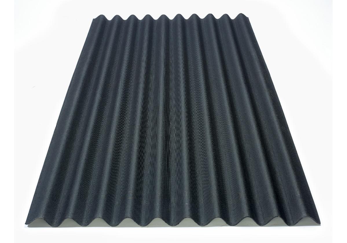 Onduline Clássica® | foto da telha ecológica na cor preta