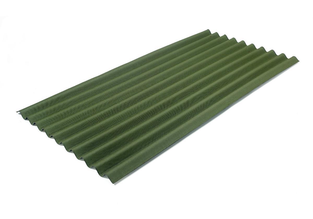 Onduline Clássica® | foto da telha ecológica na cor verde