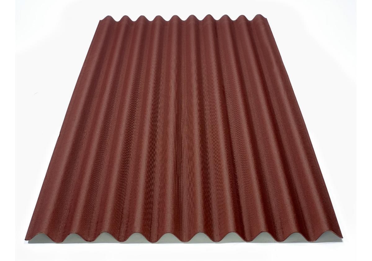 Onduline Clássica® | foto da telha ecológica na cor vermelha