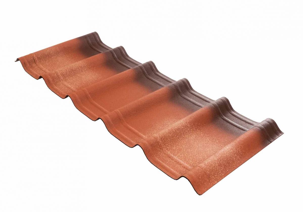 Onduvilla® | foto da telha ecológica premium na cor Fiorentino