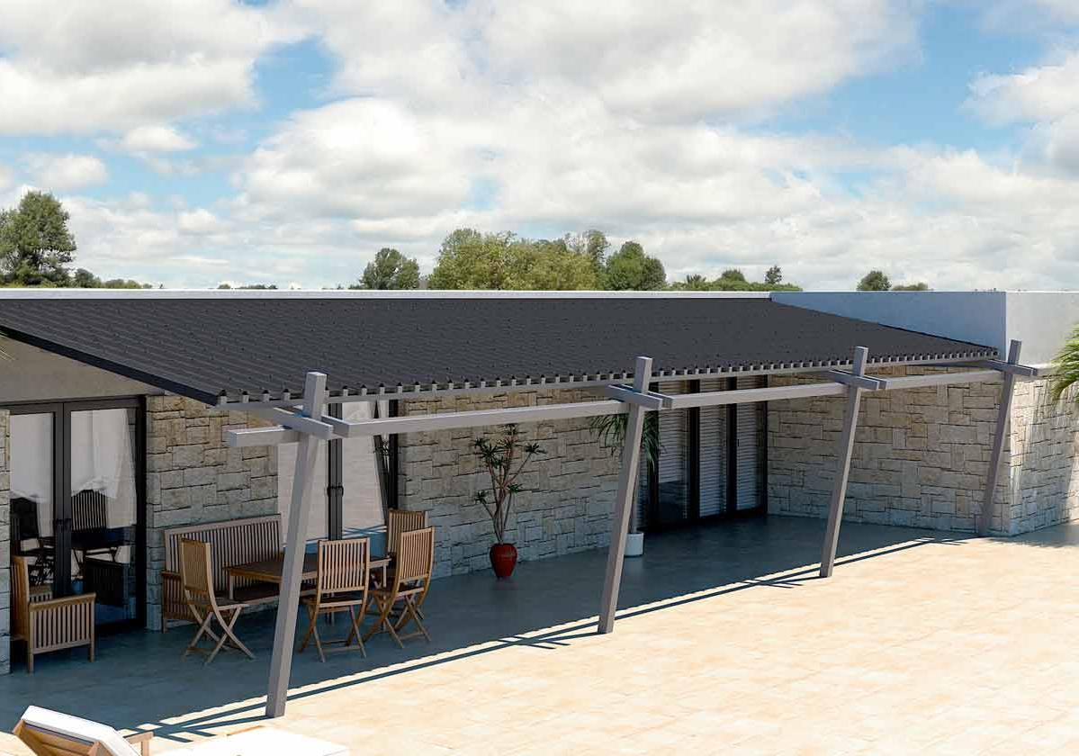 Onduvilla® | foto de aplicação da telha ecológica premium na cor Black