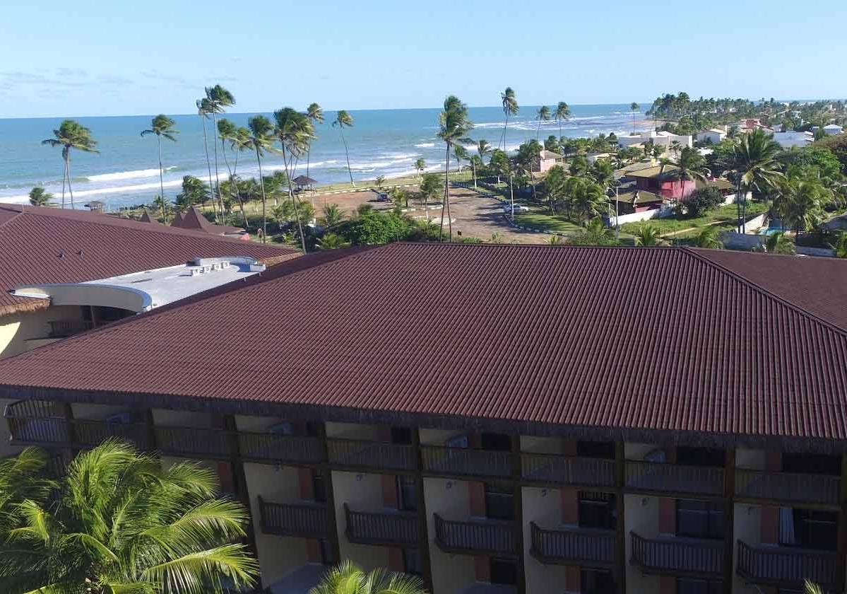 Onduvilla® | foto de aplicação da telha ecológica premium na cor Brown