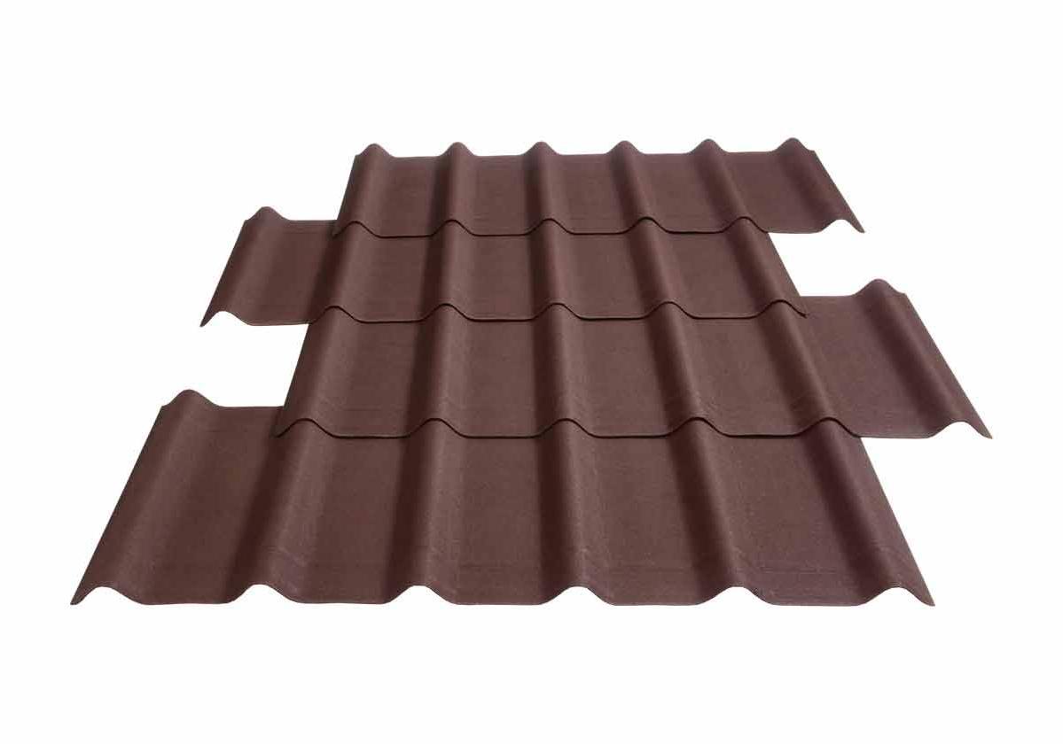 Onduvilla® | foto da telha ecológica premium na cor Brown