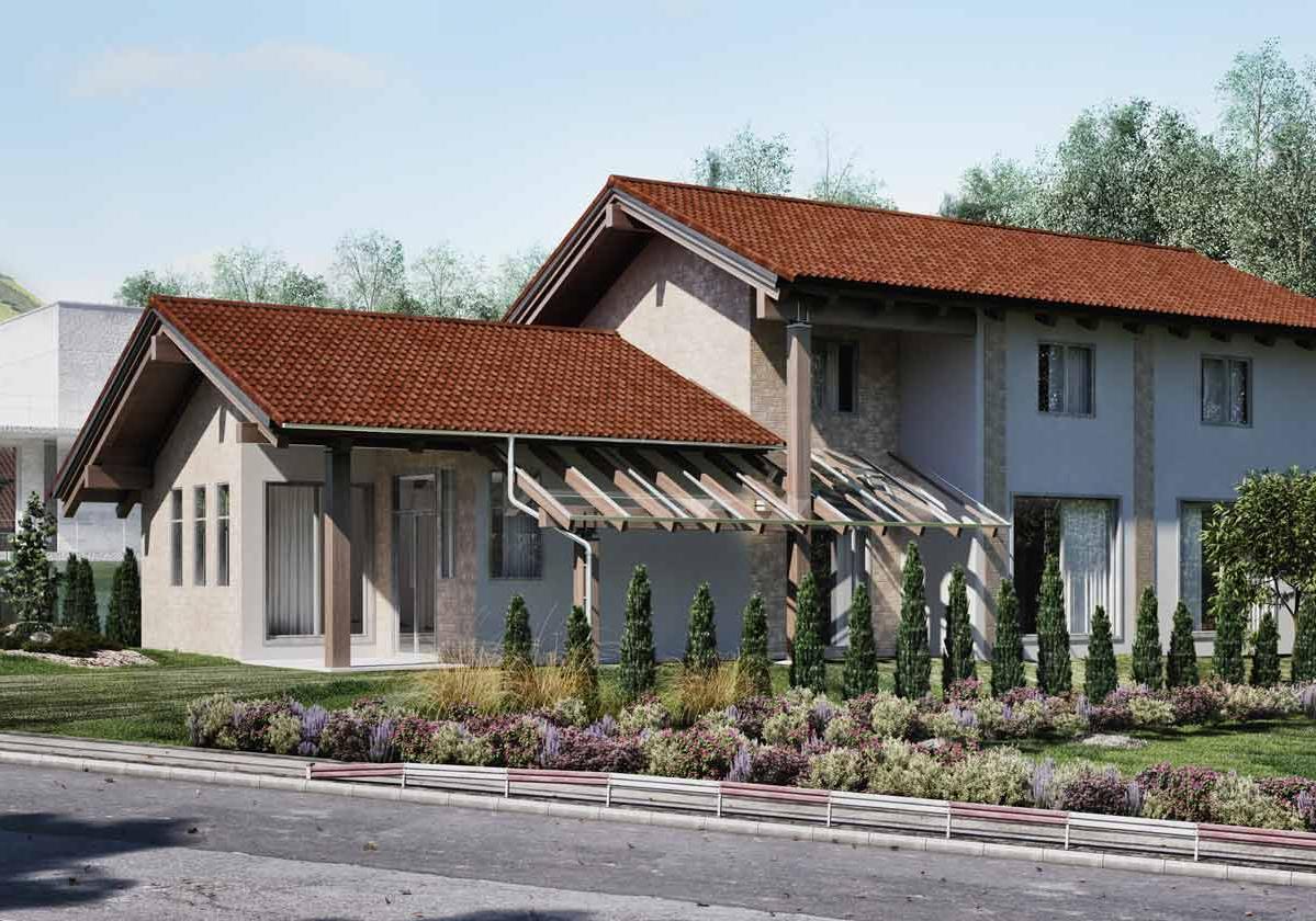Onduvilla® | foto de aplicação da telha ecológica premium na cor Fiorentino