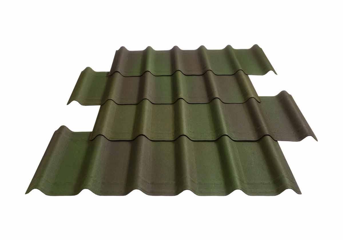 Onduvilla® | foto da telha ecológica premium na cor Shaded Green
