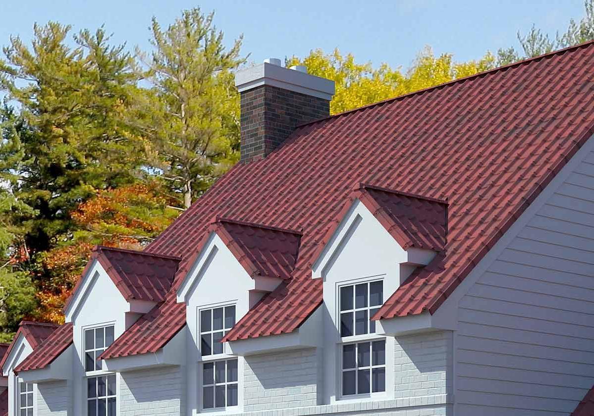 Onduvilla® | foto de aplicação da telha ecológica premium na cor Shaded Red