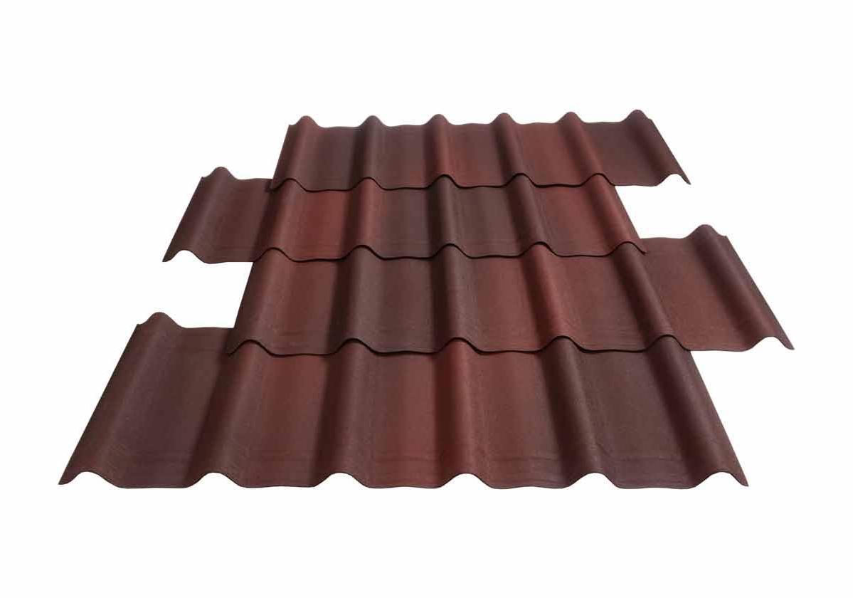 Onduvilla® | foto da telha ecológica premium na cor Shaded Red