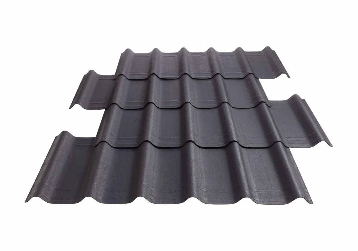 Onduvilla® | foto da telha ecológica premium na cor Slate Grey