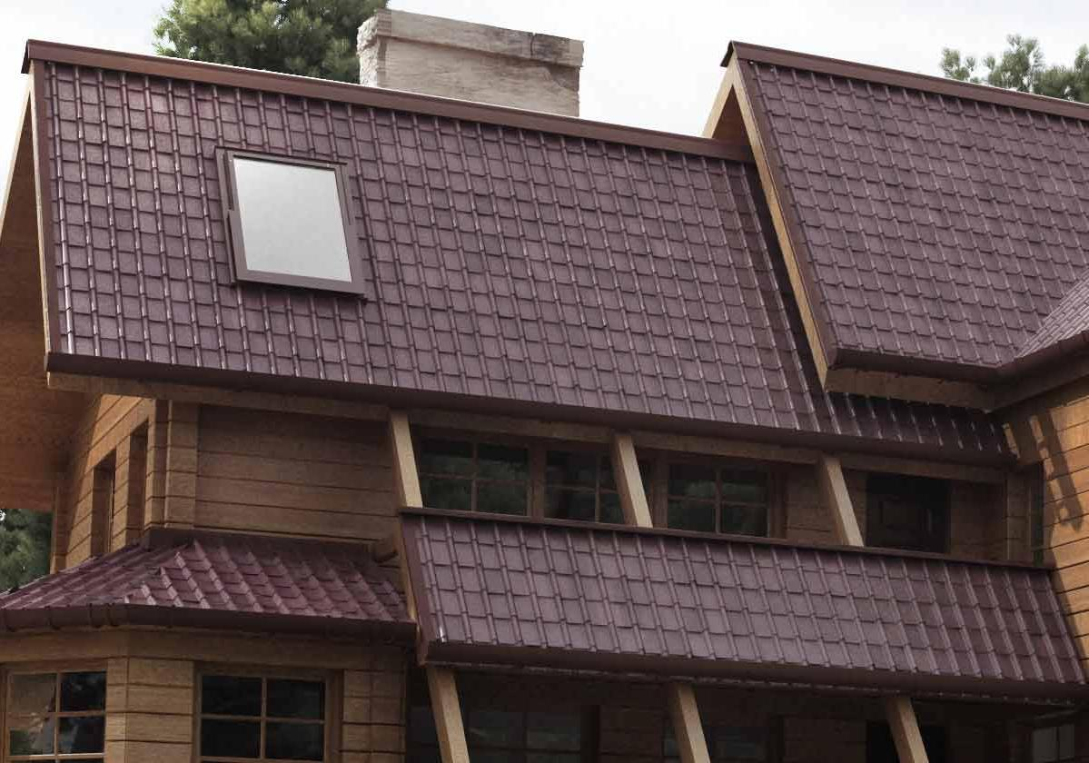 Onduvilla® | foto de aplicação da telha ecológica premium na cor Torino Brown