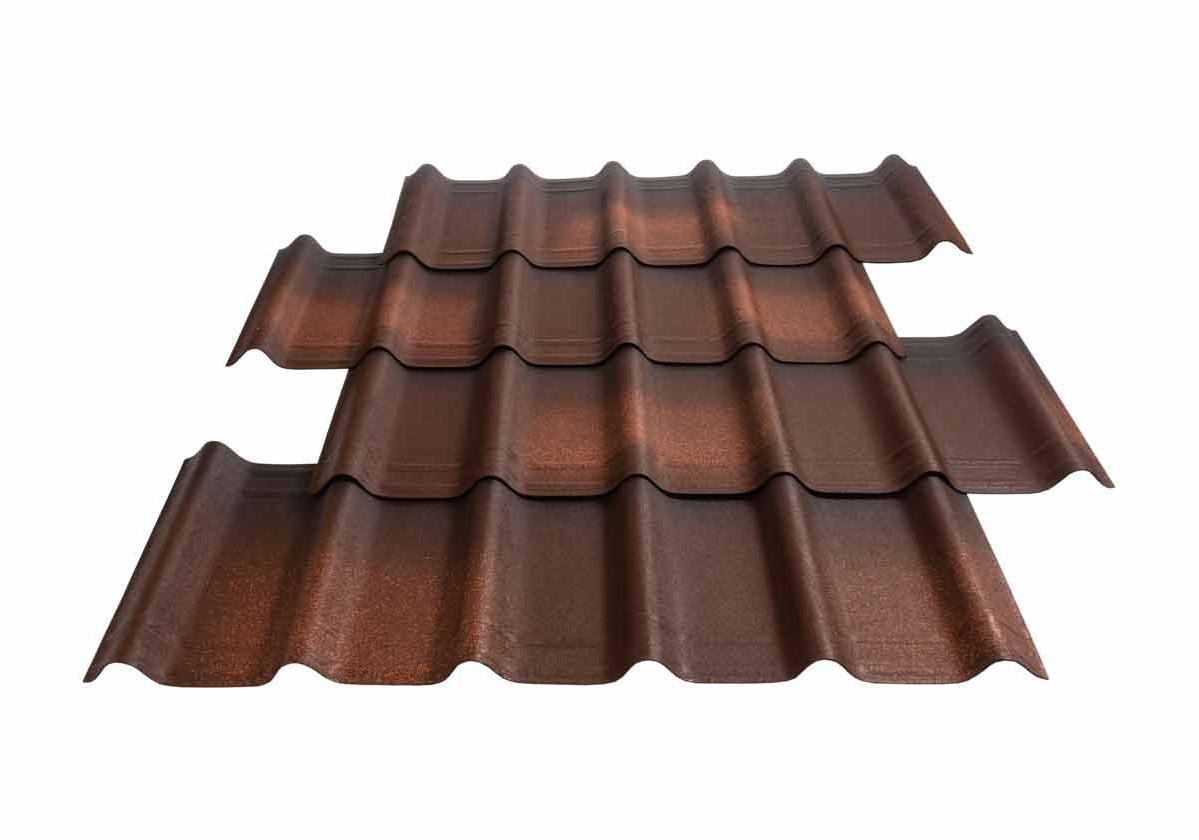 Onduvilla® | foto da telha ecológica premium na cor Torino Brown