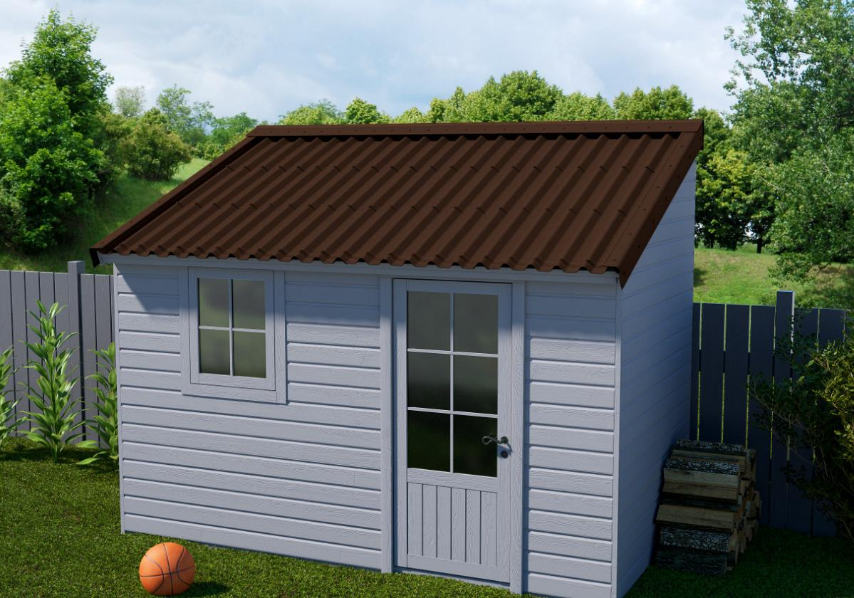 Onduline Stilo® | foto de anexo com telha ecológica na cor marrom