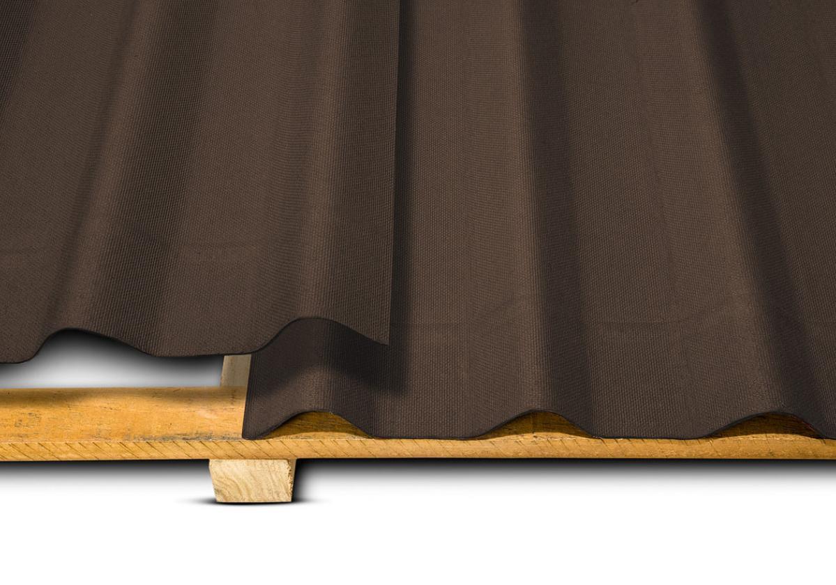 Onduline Stilo® | foto de detalhe da telha ecológica na cor marrom