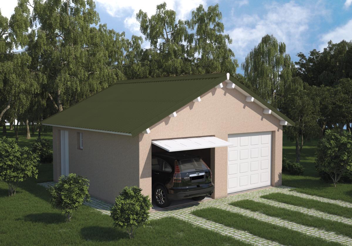 Onduline Stilo® | foto de garagem com telha ecológica na cor verde
