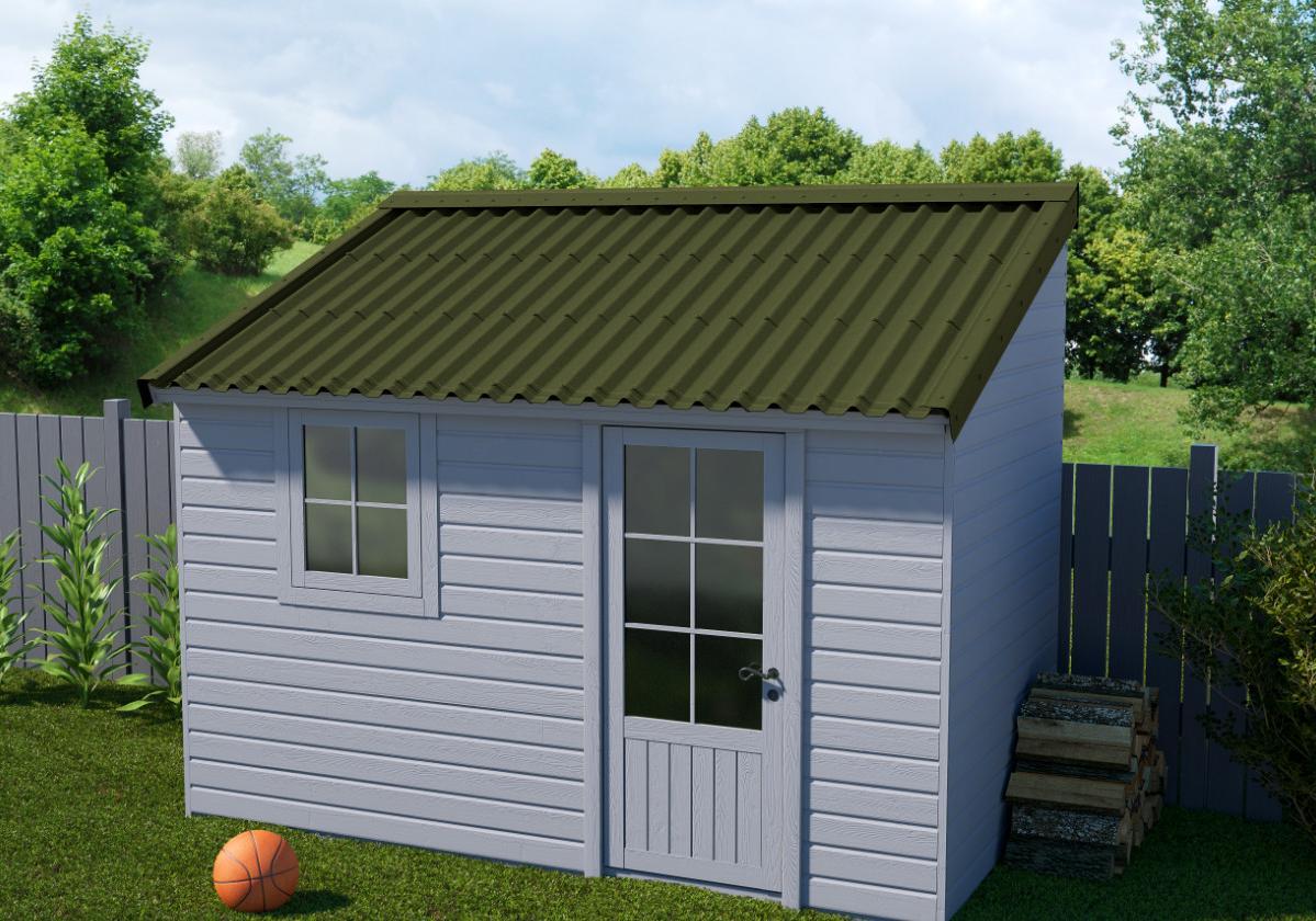 Onduline Stilo® | foto de anexo com telha ecológica na cor verde