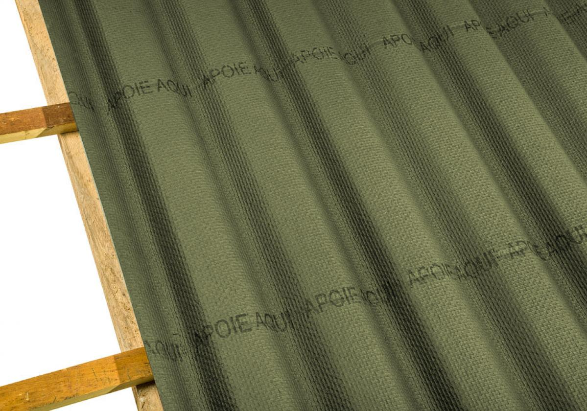 Onduline Stilo® | foto de detalhe da telha ecológica na cor verde