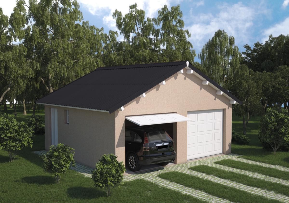 Onduline Stilo® | foto de garagem com telha ecológica na cor preta