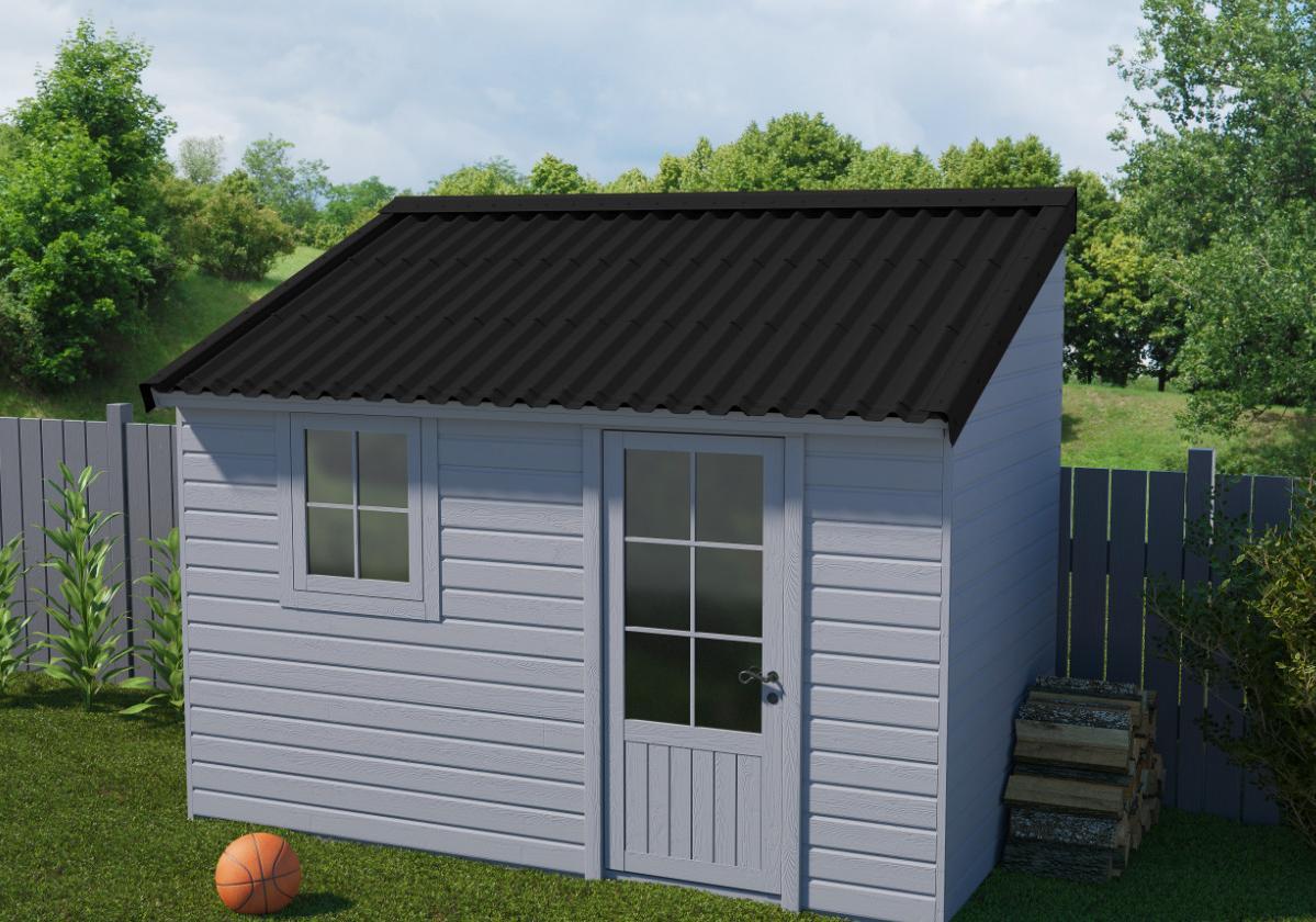Onduline Stilo® | foto de anexo com telha ecológica na cor preta