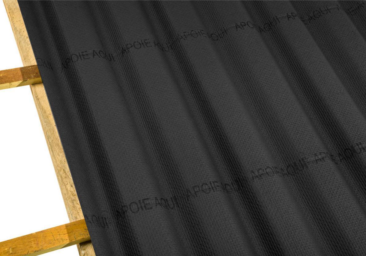 Onduline Stilo® | foto de detalhe da telha ecológica na cor preta