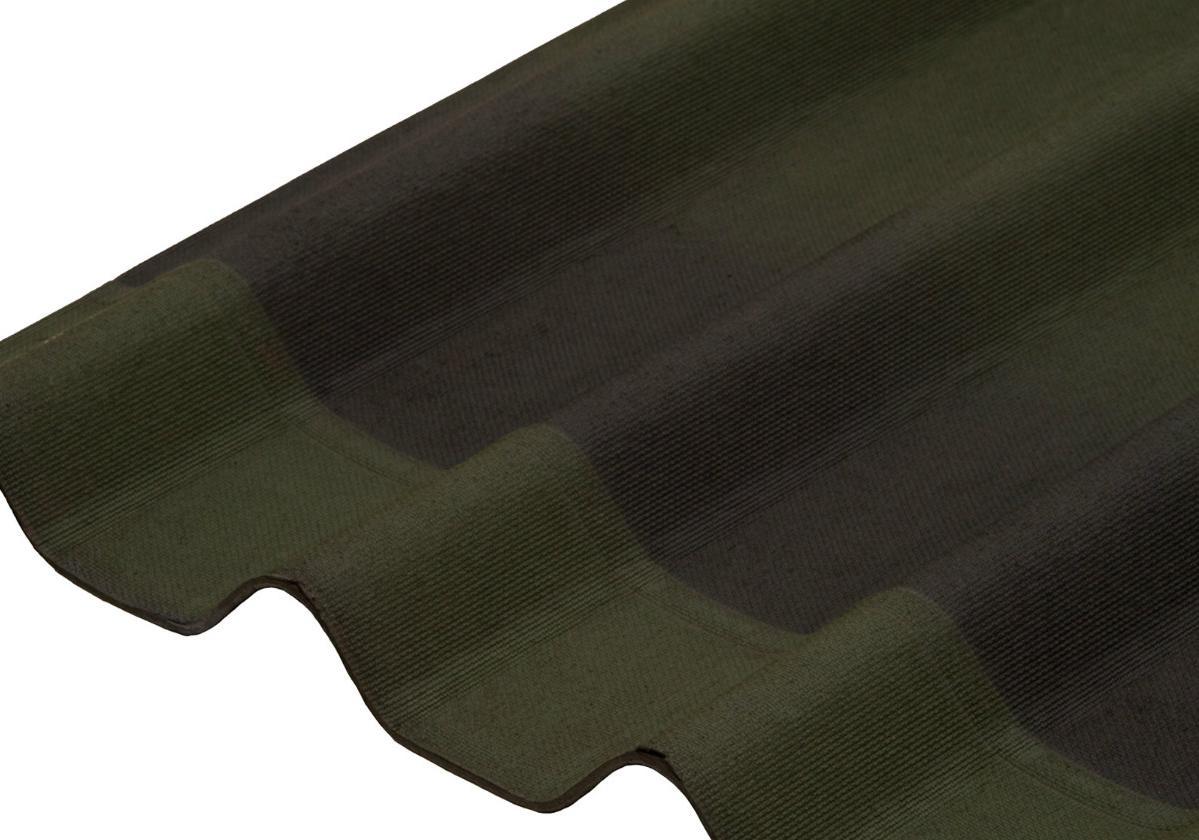 Onduline Stilo 3D® | foto de telha ecológica na cor verde 3D
