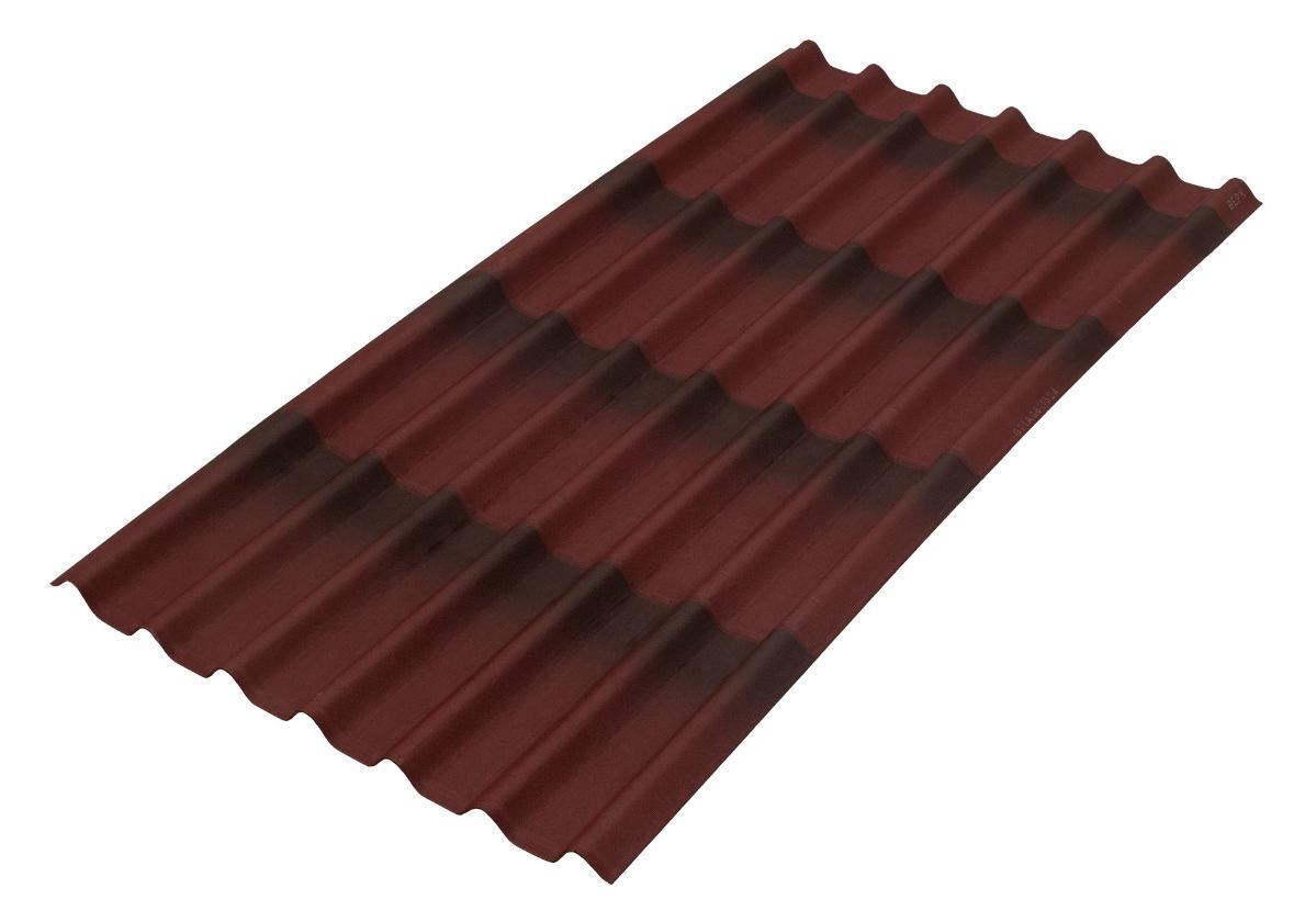 Onduline Stilo 3D® | foto de telha ecológica na cor vermelha 3D