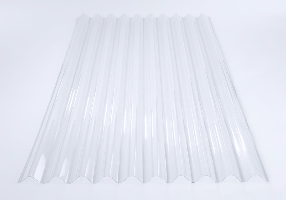 Foto de telha transparente de policarbonato Onduclair