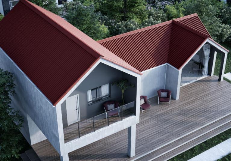 Imagem de casa com telha ecológica Onduline Stilo