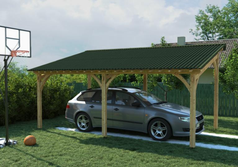 Cobertura para carros feita com telhas ecológicas Clássica Fit