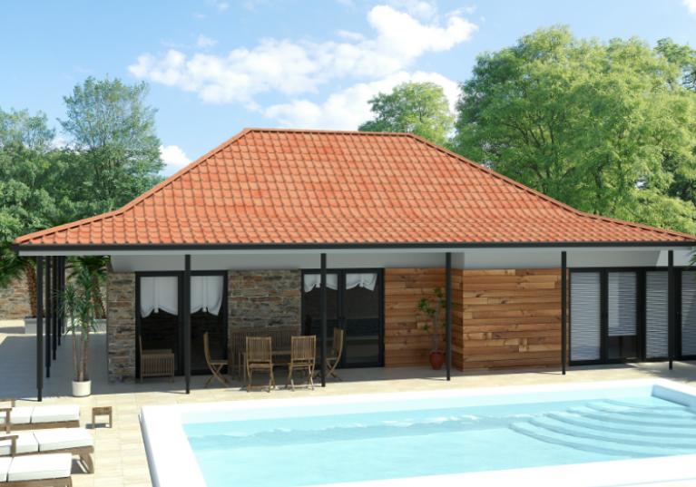 Casa com telha ecológica Onduvilla cor Fiorentino