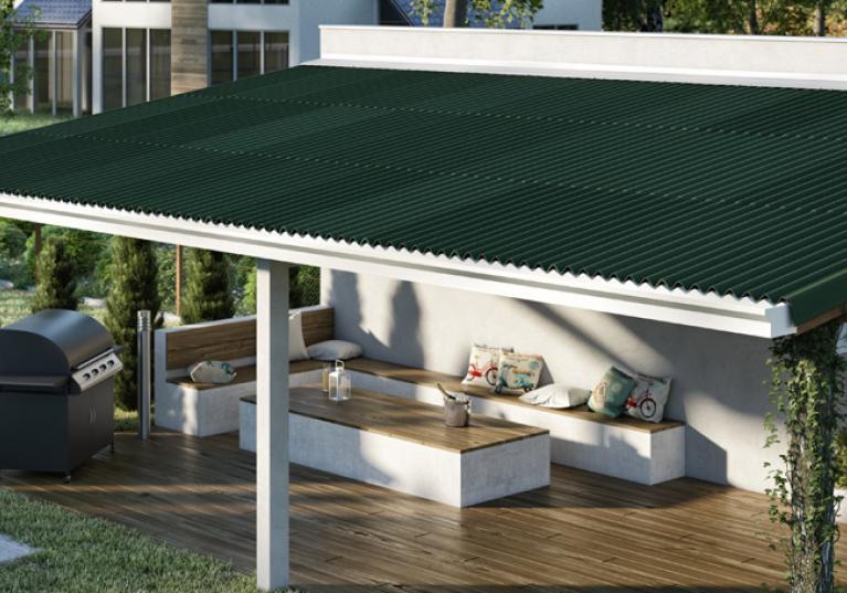 Anexo com telha ecológica Clássica cor verde