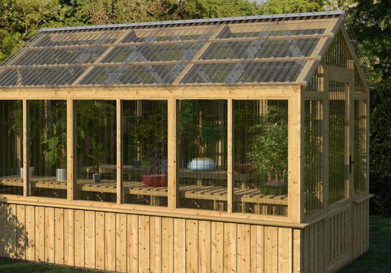 Estufa para plantas feito com telha transparente de policarbonato Onduclair